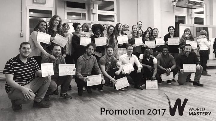 Photo des élèves de la promotion de septembre 2017 / Certification World Mastery