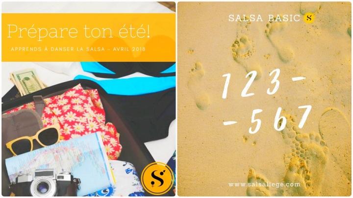 Trop envie d'apprendre les bases de la Salsa pour cet été 2018? Nouvelle session de cours débutant (Avril 2018)